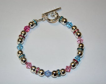 Swarovski and Sterling Silver Bracelet