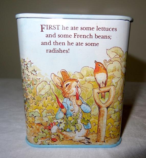 Peter Rabbit money box tin
