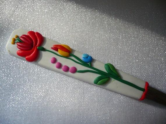 Personalized cutlery- teaspoon with original hungarian kalocsai motif