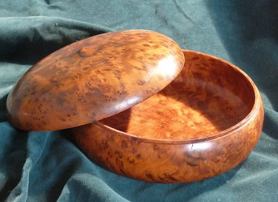 Handmade Wooden Box from Morroccan Tuya  Wood