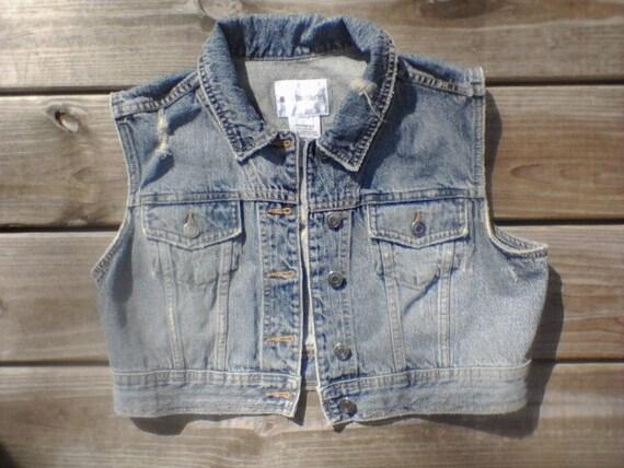 Vintage Distressed Denim Jacket