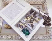 Eco Book Jewelry Box Gold Pattern Large Jewelry Box Hidden Book Jewelry Safe Jewelry Book Box