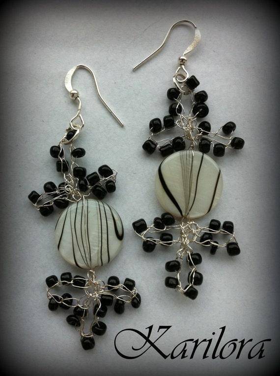 Silver Crochet Wire Earrings