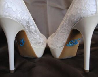 I Do Shoe Stickers Blue / Aqua Rhinestone I Do Wedding Shoe Appliques -Something Blue - Rhinestone I Do Shoe Decals for your Bridal Shoes