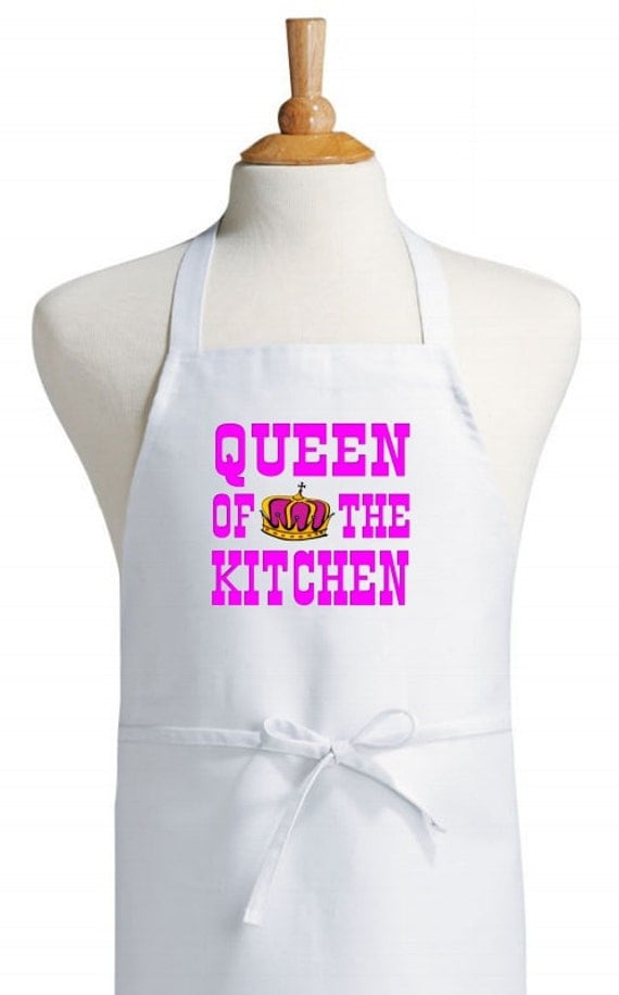 Apron For Kitchen : Cooking Apron Queen Of The Kitchen White Aprons For Women Etsy