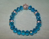 Blue Czech glass and Swarovski crystals
