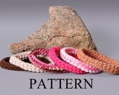 PDF PATTERN FILE - Crochet Moss Stitch Bangle Bracelet Pattern