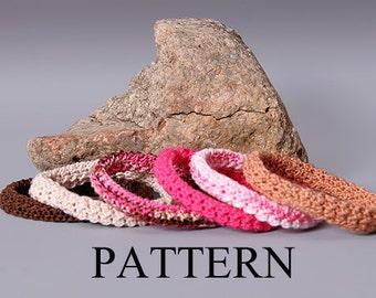 PDF PATTERN FILE - Crochet Moss Stitch Bangle Bracelet Pattern