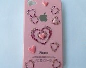 Pink I phone case hearts 4G 16GB 32GB GSM