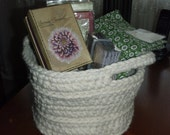 Chunky Crochet Basket - Fisherman Made to Order