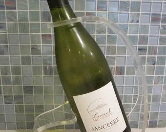 vintage lucite acrylic wine bottle holder or rack