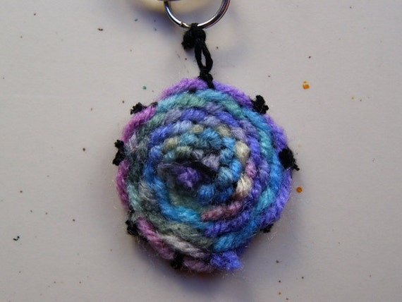 Multicolored Circular Weaving Keychain