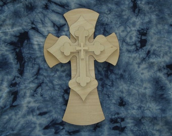 Unfinished Wood Layered Wood Crosses Stacked Wooden Cross Part Lc 166