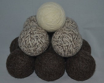 Large Wool Dryer Balls Set of 4  2.25 Ounces Each - Triple Felted