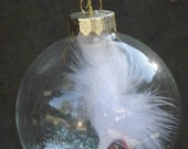 Angel feather ornament / sympathy gift/ or remberence gift