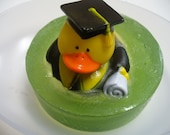 Graduation - Grad - Rubber Ducky Soap  - fun soap - green soap - graduation gift - essential oil soap