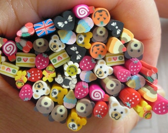 FREE SHIPPING!! 50% OFF Assorted 3D Polymer Clay Cane- 53pcs