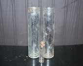 Tall skinny jar and vial lot