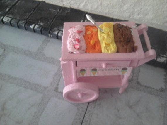 Dolls house ice cream cart