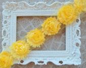 1 Yard Shabby Frayed Fabric Chiffon Flowers Wholesale - Yellow - Wholesale  Embellishments - Frayed Flowers