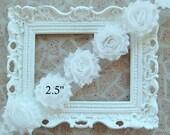 1 YARD Shabby Frayed Fabric Flowers Wholesale - 1 YARD - White - Wholesale  Embellishments - Frayed Flowers