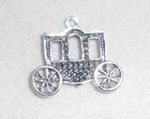 Silver Reniassance Carriage  Pendant