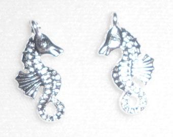 Silver Sea Horse  Charms