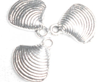 Silver Sea Shell  Charms