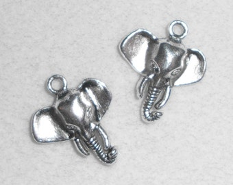Silver Elephant Charms