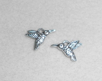 Silver Hummingbird Charms