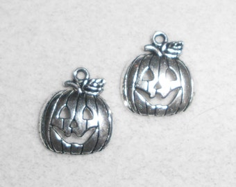 Silver Pumpkin Charms