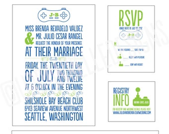 Video Game Wedding Invitations