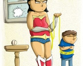 Wonder Woman Print You Can't Lie to Mom Super Hero Parents