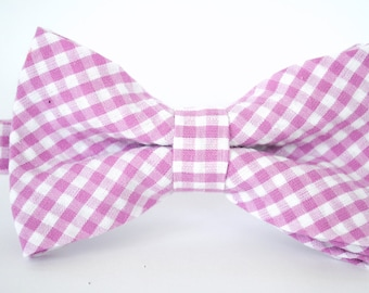 Bow Tie - Newborn, Infant, Toddler, Boy - Purple Gingham