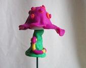Purple Mushroom Plant Poke