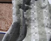 Kitchen towel, tea towel,  handwoven, green, white, cotton