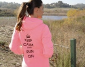 RESERVED FOR Alice - Keep Calm and Run On Hoody - Unisex