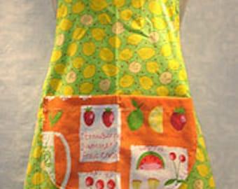 Lemons and Fruits Bib Apron