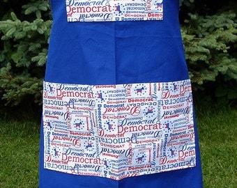 Blue Democrat Bib Apron