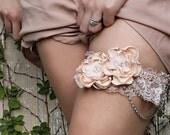 Flower and Chain Bridal Garter