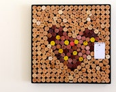 Wine Heart Cork Board, Upcycled from Clock