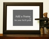 Add a mat and frame to your 8x10 print