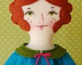 Rosie - PDF Pattern Wool Felt Doll