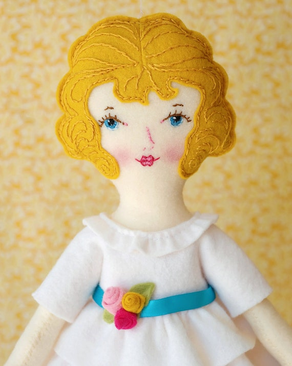 Ellie - PDF Pattern Wool Felt Doll