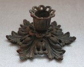 Ornate Cast Iron Candleholder
