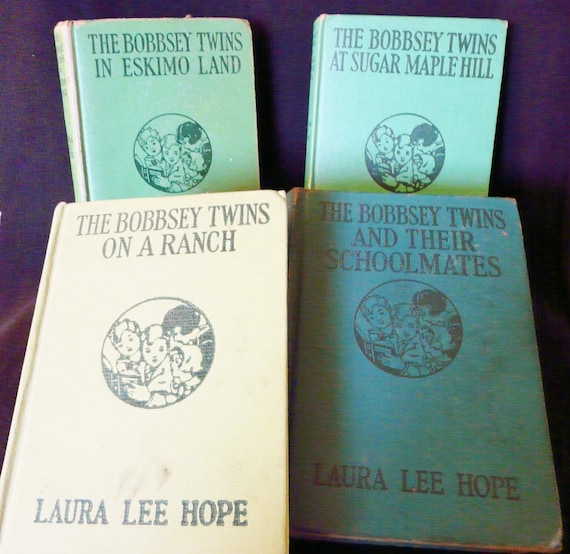 Bundle of Four Early Bobbsey Twins Books