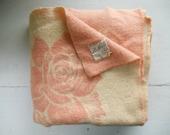 SALE: Vintage Wool Blanket, St. Moritz