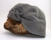 Beach Hat - Very Knotty - Grey Organic Cotton Linen