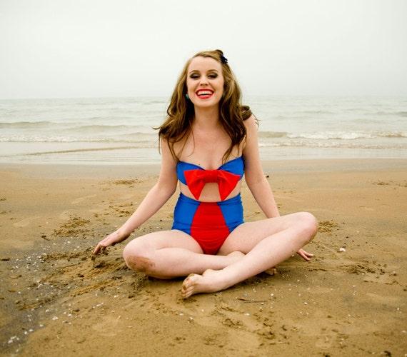 Kelly Bow High Waist Bikini Two-Piece