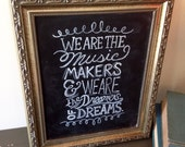 Hand Painted Vintage Typography Chalkboard Art - 8 x 10 - Framed Wall Art- Willy Wonka Quote